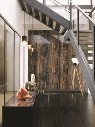 Laminate Flooring On Walls For A Warm And Luxurious Feel Of The Interior