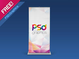 Psd Download Roll Up Banner Mockup Free Psd By Psd Graphics Dribbble Dribbble