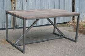 metal industrial furniture. Reclaimed Wood Dining Table Metal Industrial Furniture C
