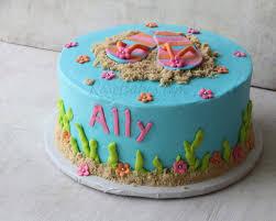 Beach Ball Cake Decorations Classy Summer Flip Flops Beach Cake Rose Bakes