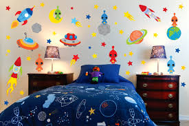 Outer Space Bedroom Decor Space Theme Wall Decals Outer Space Room Alien Wall Decals