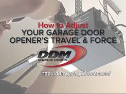 how to adjust garage door openerHow to Adjust Your Garage Door Openers Travel and Force  YouTube