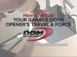 how to adjust your garage door opener s travel and force