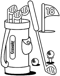 Make A Hole In One With This Golf Coloring Page Free Coloring