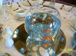 Fish Bowl Decorations For Weddings Goldfish Centerpiece Ideas Wedding Centerpiece Ideas Fish Bowls 31