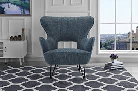 mid century modern linen fabric accent armchair with shelter style living room chair dark