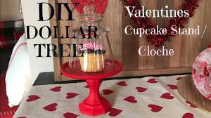diy dollar tree valentines cupcake stand cloche