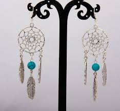 hot 10 pair vintage silver dream catcher feather crystal beads charm pendants d earrings fashion jewelry diy