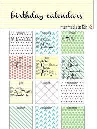 birthday calendar template free download best printable birthday calendar images on cute templates