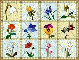 Flower Quilt Block Patterns year of flowers products the electric ... & Flower Quilt Block Patterns year of flowers products the electric quilt  company Adamdwight.com