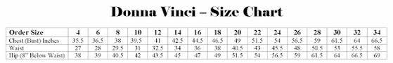 Ben Marc Size Chart Size Guides R Rena Fashion