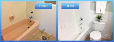 refinishing bath tub fiberglass tub before