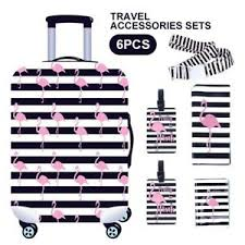 Travel Luggage Size Chart Details About 22 24 6pcs Set Travel Luggage Suitcase Cover Passport Bag Luggage Tag Strap New