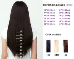 Hair Length Chart Weave Straight Top Quality 6a Grade Virgin Remy Indian Straight Hair Weft Weave