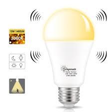 Motion Sensor Light Bulb Candelabra Techgomade Radar Motion Sensor Led Light Bulbs E26 Base A19 Bulbs 15w 120w Equivalent Soft White 3000k Led Porch Light Auto On Off Security