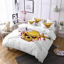 fancy as109 a oath sword skeleton pattern decoration bedding set