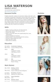 Makeup Artist Resume Example Pinteres