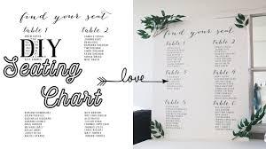 Diy Wedding Signs 3 Seating Chart Easy