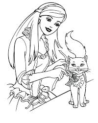 Barbie Coloring Pages Print Printable Barbie Coloring Pages Print