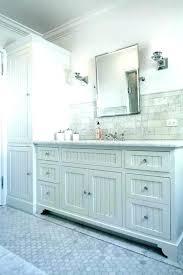 Beadboard Bathroom Vanity White Bath