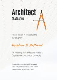 Graduation Announcements Template Architect Graduation Invitation Template Visme