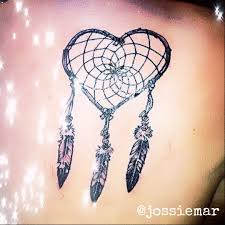 Heart Dream Catcher Tattoo Mu dream catcher tattoo shared by Jossiemar on We Heart It 82