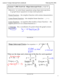to write linear equations using slope