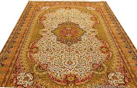 isfahan silk on silk rug ivory green red medallion rugs traditional carpet oriental carpets museum quality handknotted area rugs accent persian style fine