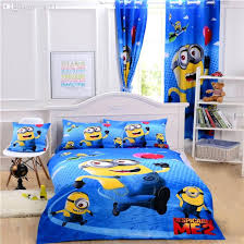 minion bed set cartoon minions bedding sets me bedding single kids bedclothes curtain duvet cover sheet