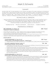 Cover Letter Example Business Analyst Resume Sample Business