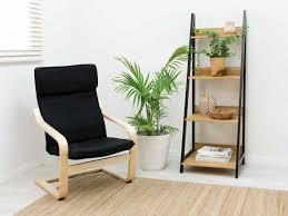 shelves for office. Mocka Urban Ladder Shelf - Black With Asta Armchair And Ruby Rug Shelves For Office