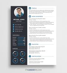 Free Creative Resume Template Michael Career Reload