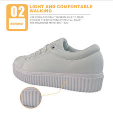 Light Up Creepers Us 29 99 25 Off Twoheartsgirl Personalized Music Notes Creepers Lace Up Platform Shoes For Women Breathable Female Ladies Flats Creepers Plus In