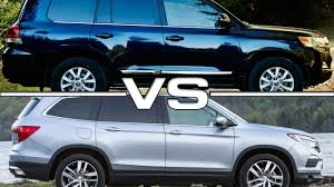 2016 Toyota Land Cruiser vs 2016 Honda Pilot - YouTube