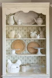 Kitchen Bookcase Diy Stenciled Bookcase Giveaway