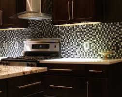 black kitchen cabinet design with white stained wall gray granite floor awesome white grey glass stainless modern design