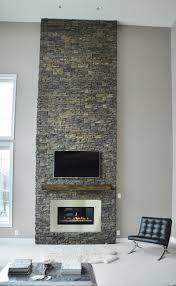 Stone Fireplace Renovation contemporary-living-room
