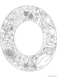 Coloring is a fun way for kids to be creative and learn how to draw and use the colors. Letter O Coloring Pages Alphabet Educational Letter O Of 3 Printable 2020 178 Coloring4free Coloring4free Com