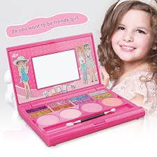 makeup kits for little girls. kids makeup kit ,8 color glitter little girls make up sets with mirror face painting kits for t