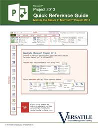 project management quick reference guide project qrg the versatile company