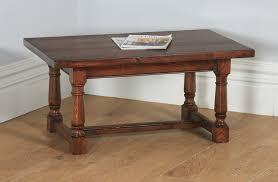 vintage 17th century style oak coffee table