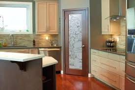 bonsai kitchen center glass doors cabinet door ideas etched pantry