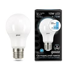 <b>Gauss LED</b> A60 10W E27 920lm 4100K step dimmable 1/10/50 арт ...