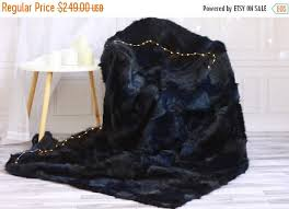 area rug navy blue sheepskin rug 1