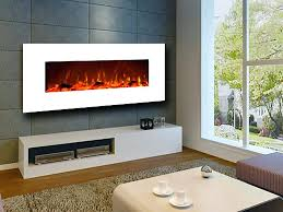 50 electric fireplace 80004 touchstone sideline recessed in ivory wall mount