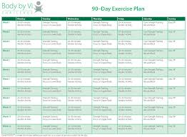 Gym Exercise Planner 9 90 Day Workout Plan Examples Pdf Examples