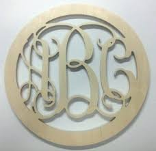 inch wooden vine monogram letters with border via wood circle 24 whole inch wooden letters glittered gray monogram
