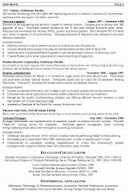 Network Technician Resume Samples Delectable Network Engineer Resume Personal Summary Work Experience Free