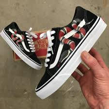 gucci vans custom. gucci vans old skool - custom painted snake shoes n