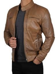 Light Brown Leather Jacket Mens Garcia Mens Light Brown Leather Jacket